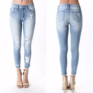 Denim - STEPHANIE Distressed Jeans